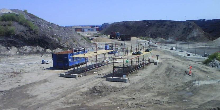 Arbejdet med fjernelse af lossepladsfyld (2)