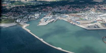 Unik udsigt fra ny mole på Køge Havn